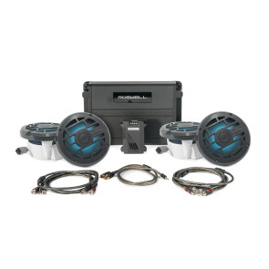 Roswell Marine Audio R 6.5'' In-Boat Speaker & RGB Controller Package - Anthracite