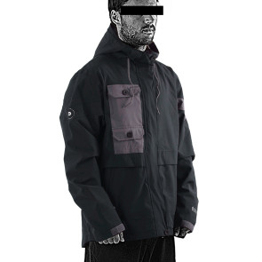 Follow Layer 3.1 Outer Spray Upstate 2021 Jacket - Black Side